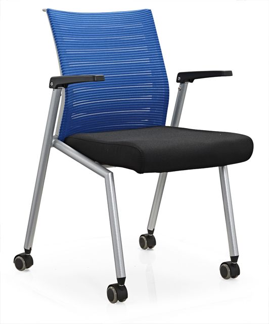 China Manufacturer Office Training Chair With Writing Pad And Casters Meeting Conference Room Seating