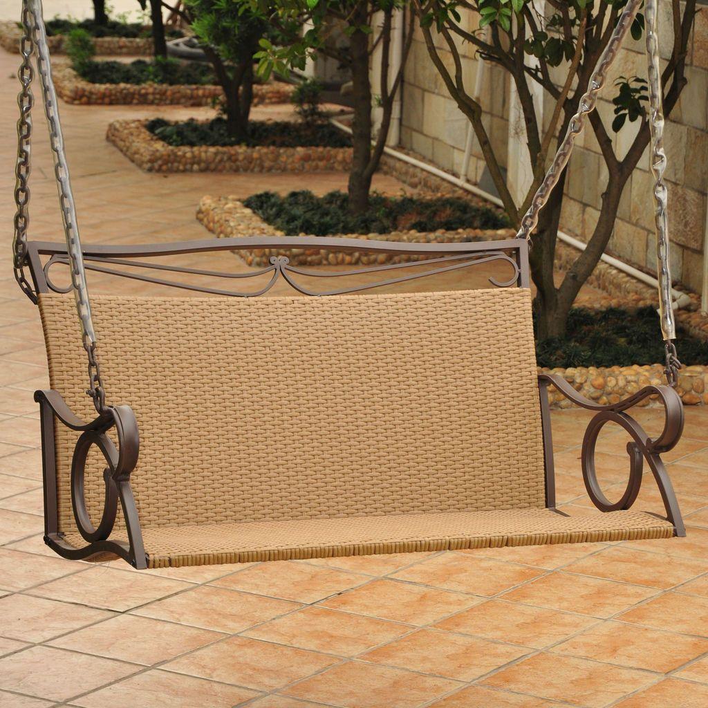 Valencia Resin Wicker/Steel Loveseat Swing | Products | Pinterest