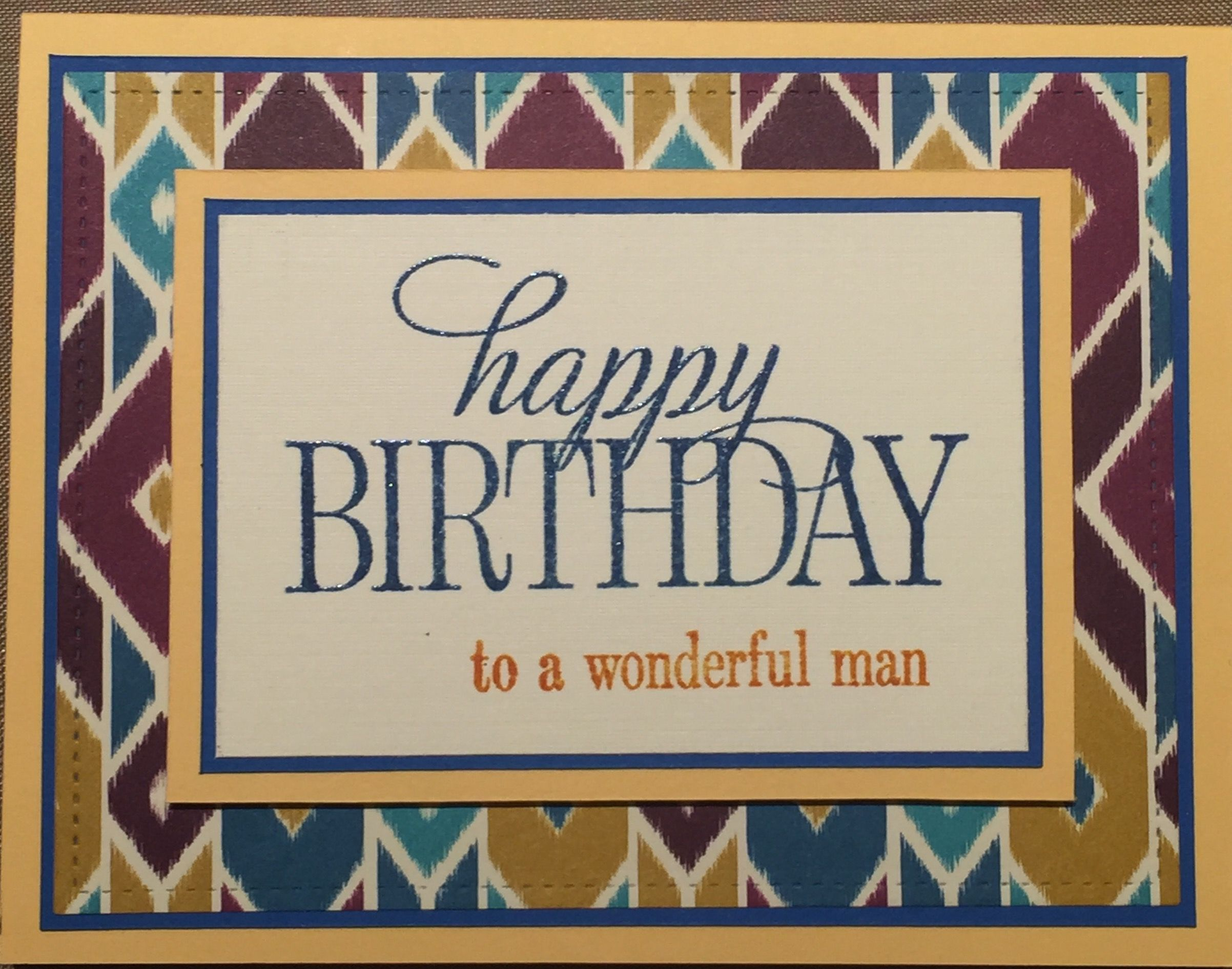 Manly card thanks to lindsstampinescape stampin up happy manly card thanks to lindsstampinescape stampin up happy birthday everyone stamps kristyandbryce Choice Image