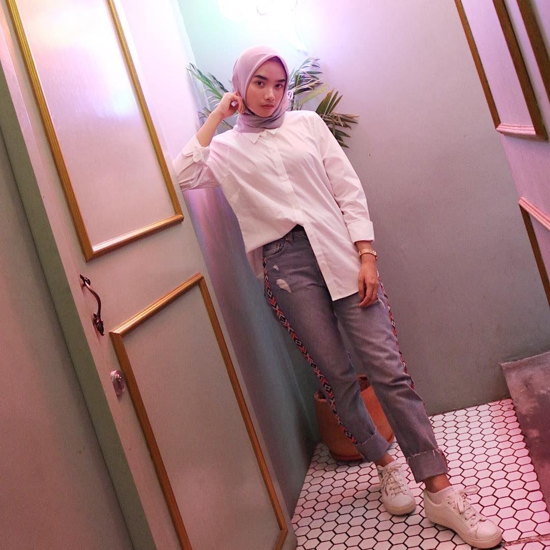 Ootd Baju Putih Hijab