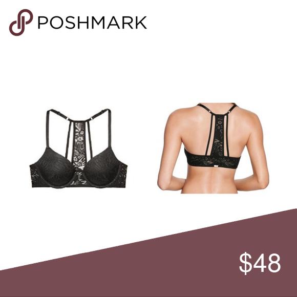b783e8f8b6 VS PINK lace T-shirt bra Black 32DD Brand new with tag. Lightly Lined. Size  32DD. PINK Victoria s Secret Intimates   Sleepwear Bras