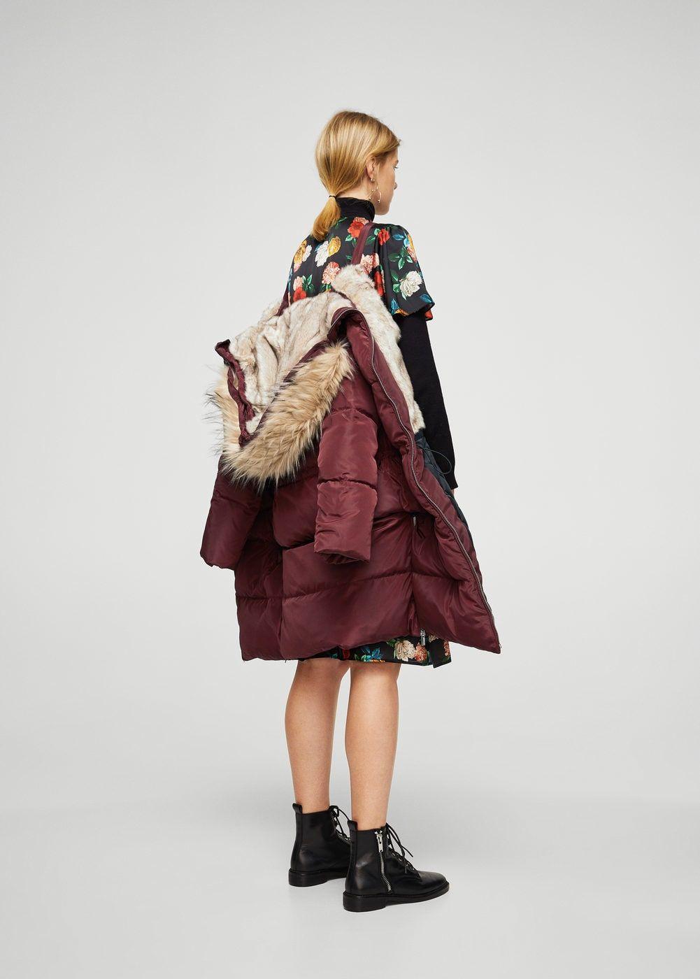 Fauxfur quilted coat fur