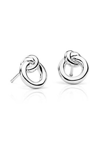 08f3ada426f3b3 These sterling silver stud earrings features a delicately knotted circle to  signify 'harmony'. The perfect gift for the one you love.