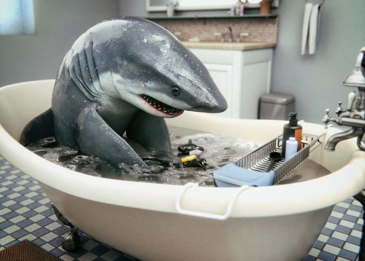 Great White Bath Daz3d Gallery 3d Models And 3d Software By