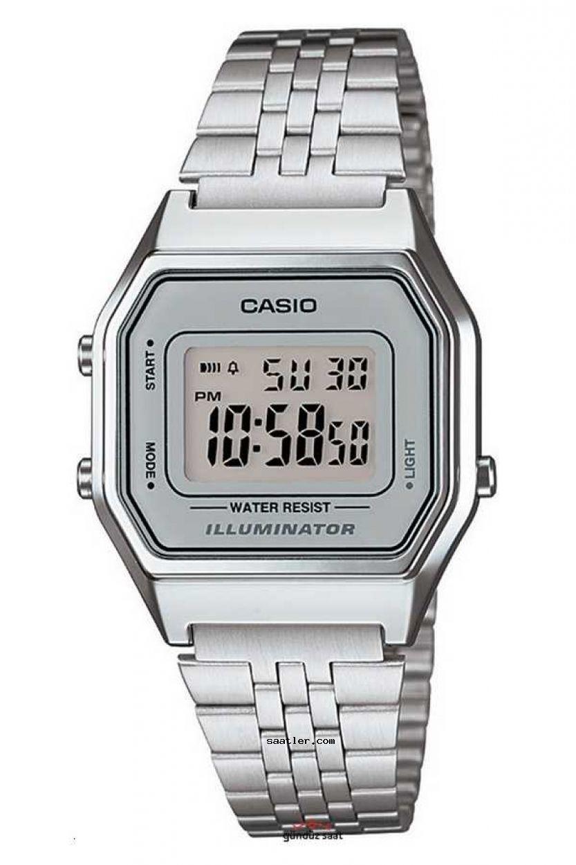 Casio Retro La680wa 7df Mini Bayan Kol Saati Bayan Saatleri Retro Gri
