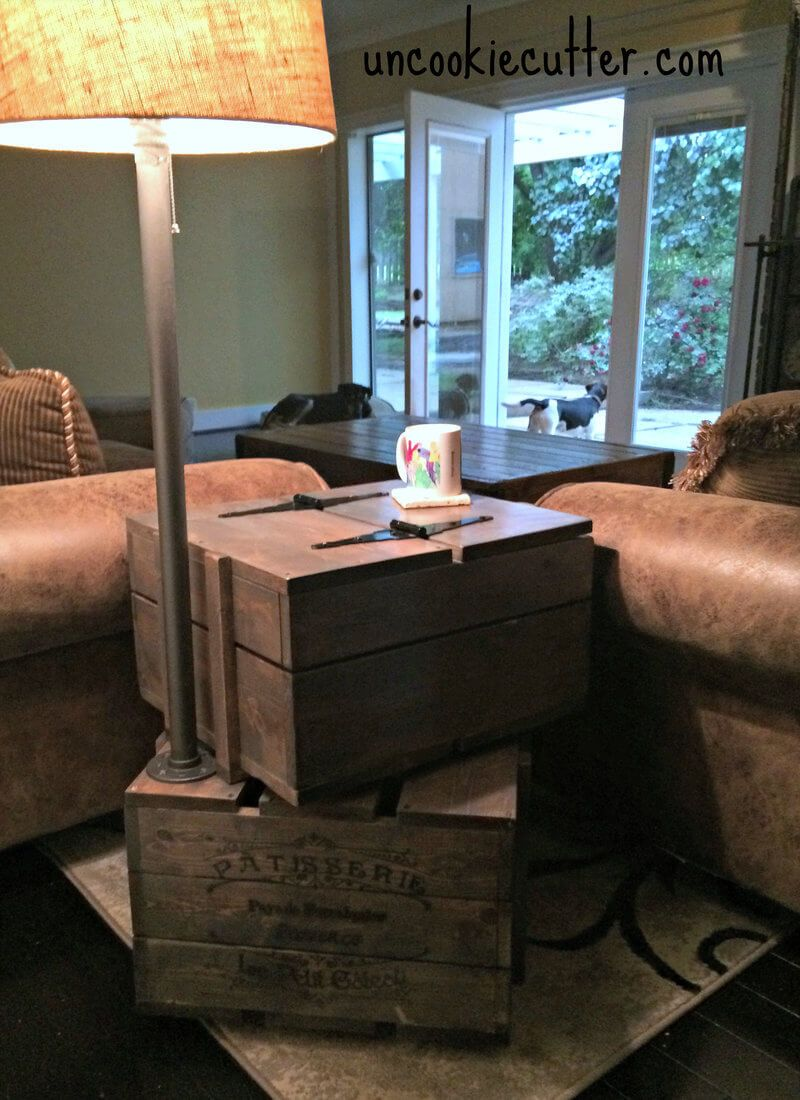 Stacked Crate End Table { Free DIY Plans | Einrichten und Wohnen ...