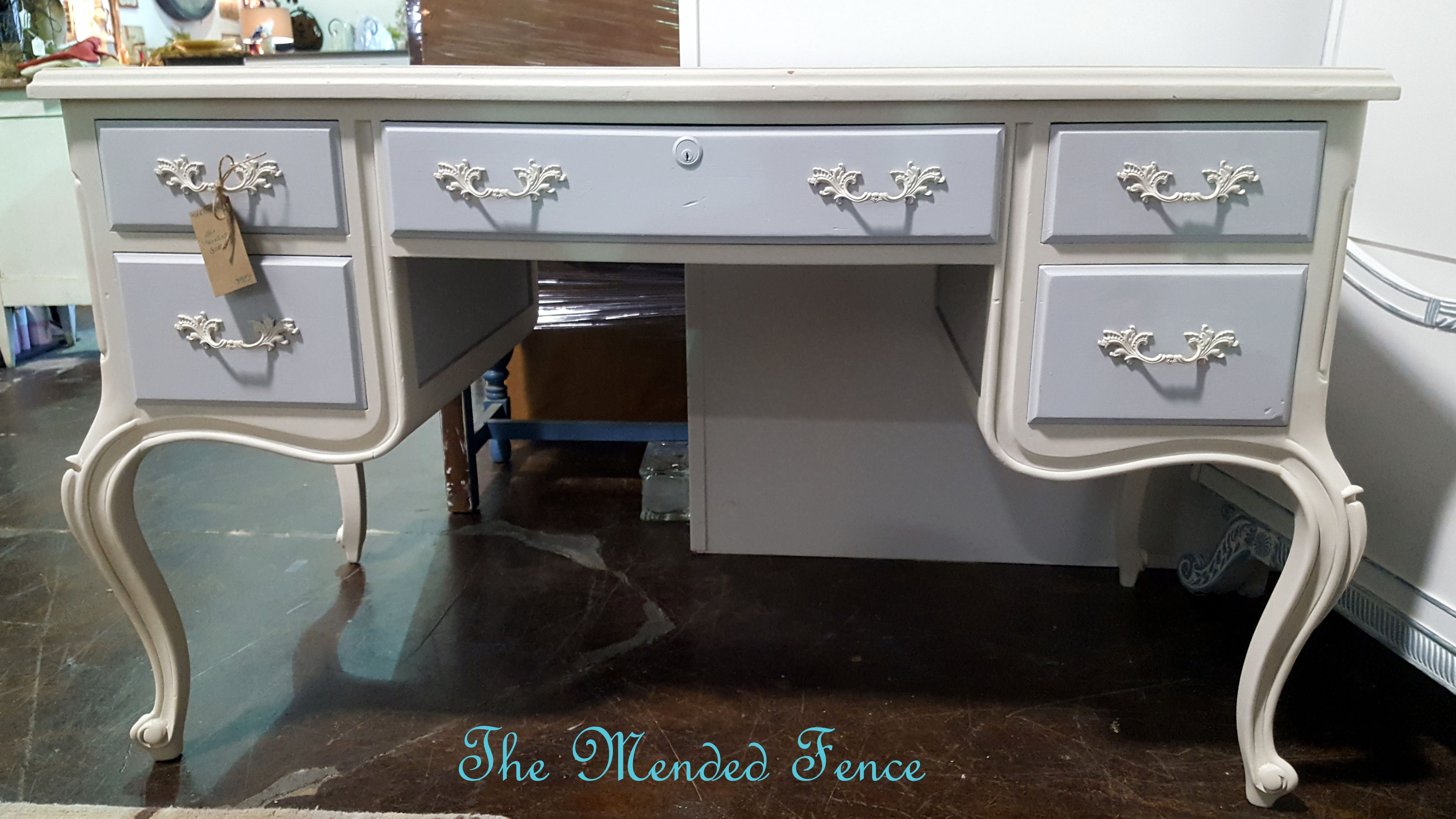 Curvy Vintage French Provincial Desk Rescued And Restored
