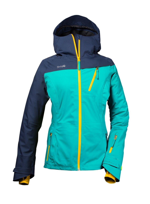 skijacke und snowboardjacke für damen in deep lake green und