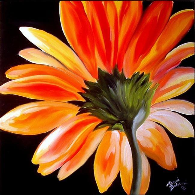 A Gerbera Daisy Golden Jpg 650 650 Daisy Painting Flower