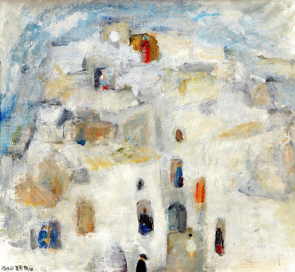 "Gustav Rudberg 1915‑2001. ""Confirmands road, Ibiza"""