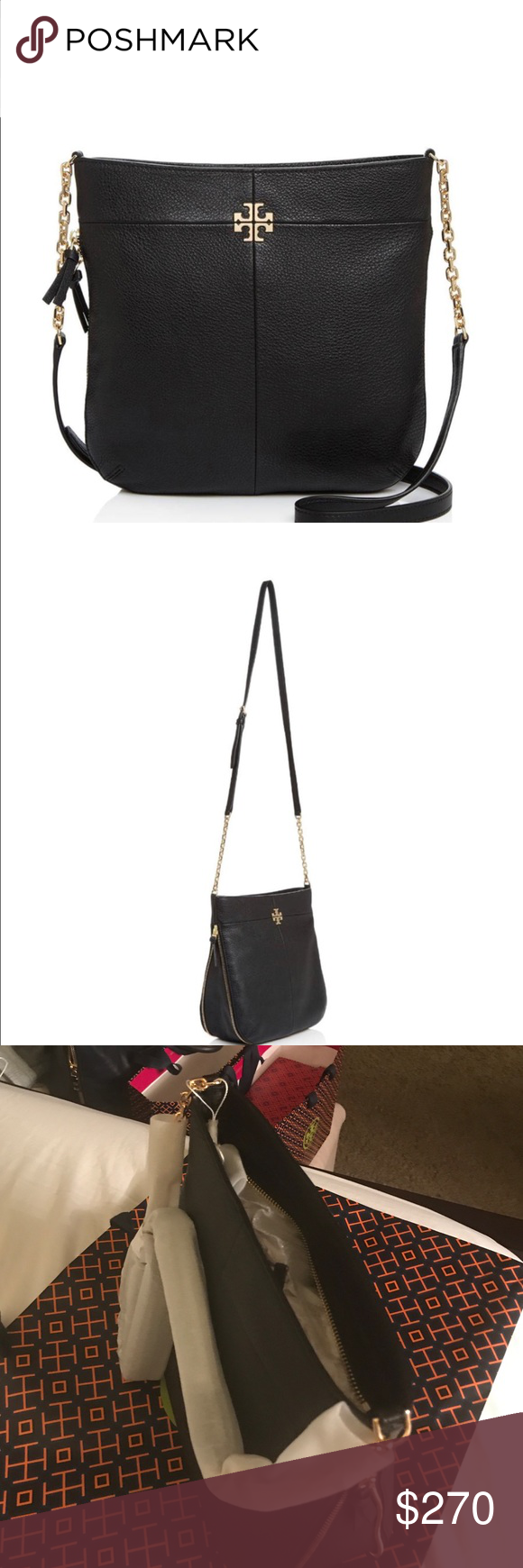 232fa81fa6f Authentic Tory Burch Ivy Crossbody Tory Burch Crossbody Ivy Convertible  leather. NWT. Also available in Bark Tan color. Tory Burch Bags Crossbody  Bags