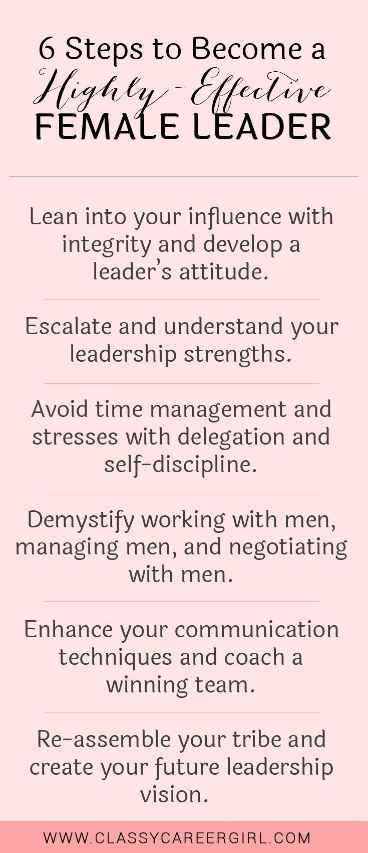 6 Steps to Become an Effective Female LEADER