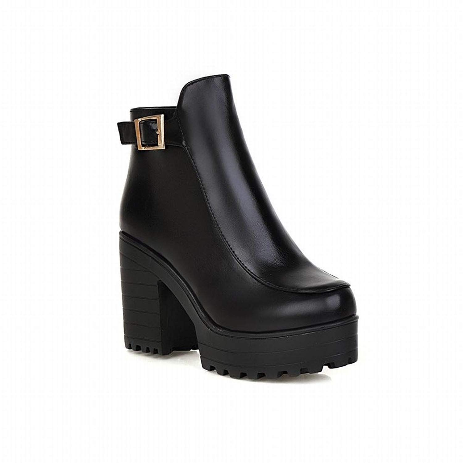 8fca55ab208d Latasa Women s Fashion Cold-weather Buckle Strap Block High-heel Platform  Ankle Boots    You can get additional details at the image link.
