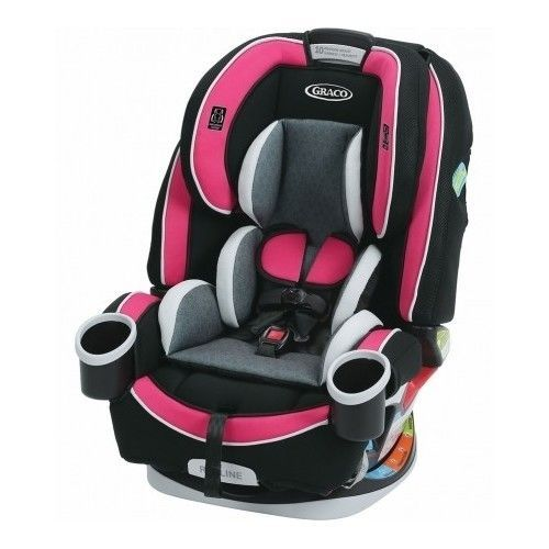 Graco 4ever Pink Convertible Carseat 10 Year Safety Seat Newborn