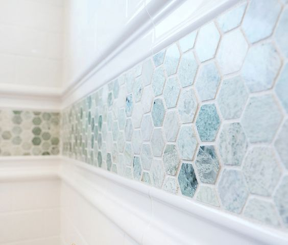 Bathroom Tile Wall Accent Bordet: 08 Stunning Aqua Mosaic Border Tiles
