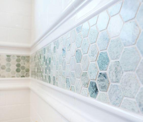 Bathroom Tiles Mosaic Border 08 stunning aqua mosaic border tiles - digsdigs | condo ideas