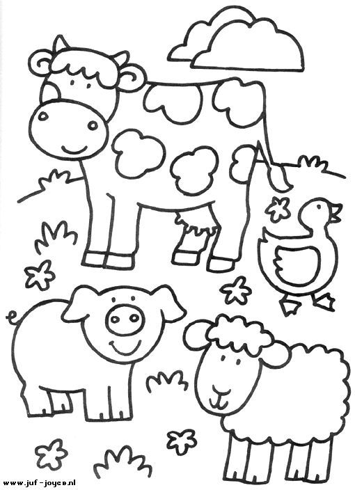 easy farm coloring page - photo #17