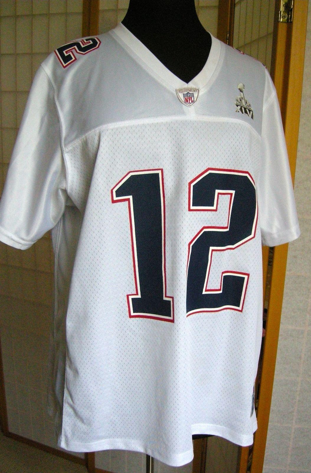 Patriots Tom Brady Superbowl XLVI- 46 Jersey NFL White Mens XL ... 9d5e06afe