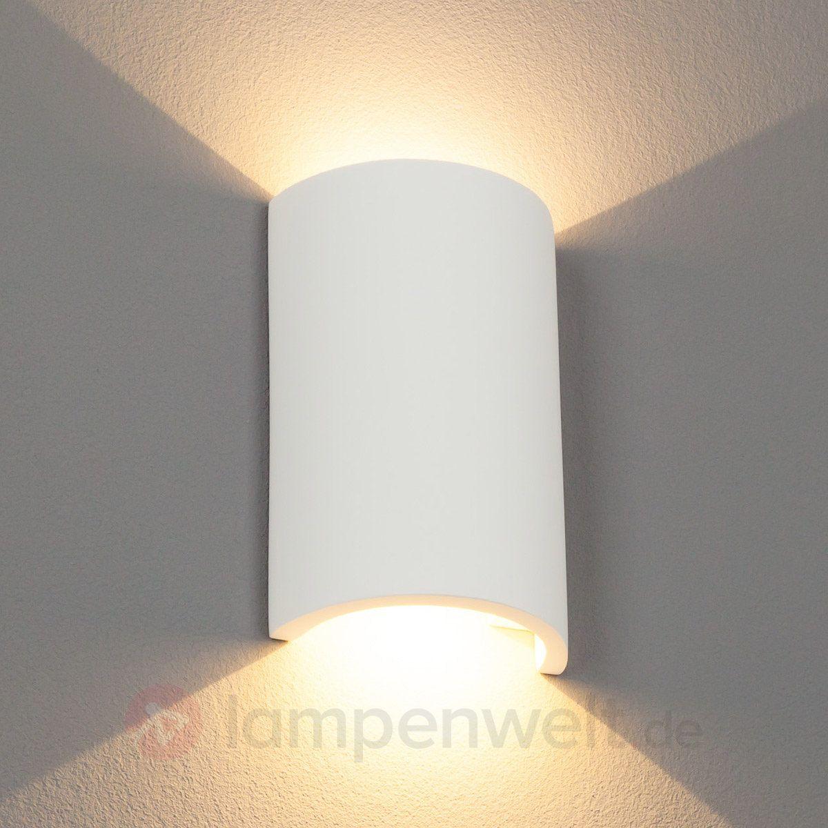 halbrunde led-gips-wandlampe gideon sicher & bequem online bestellen