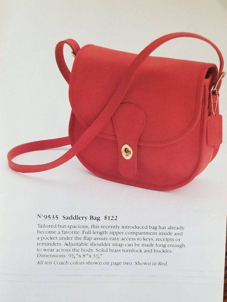 26eef6dc Vintage Coach Handbag Brown Leather Shoulder Bag Olive Green | Etsy ...