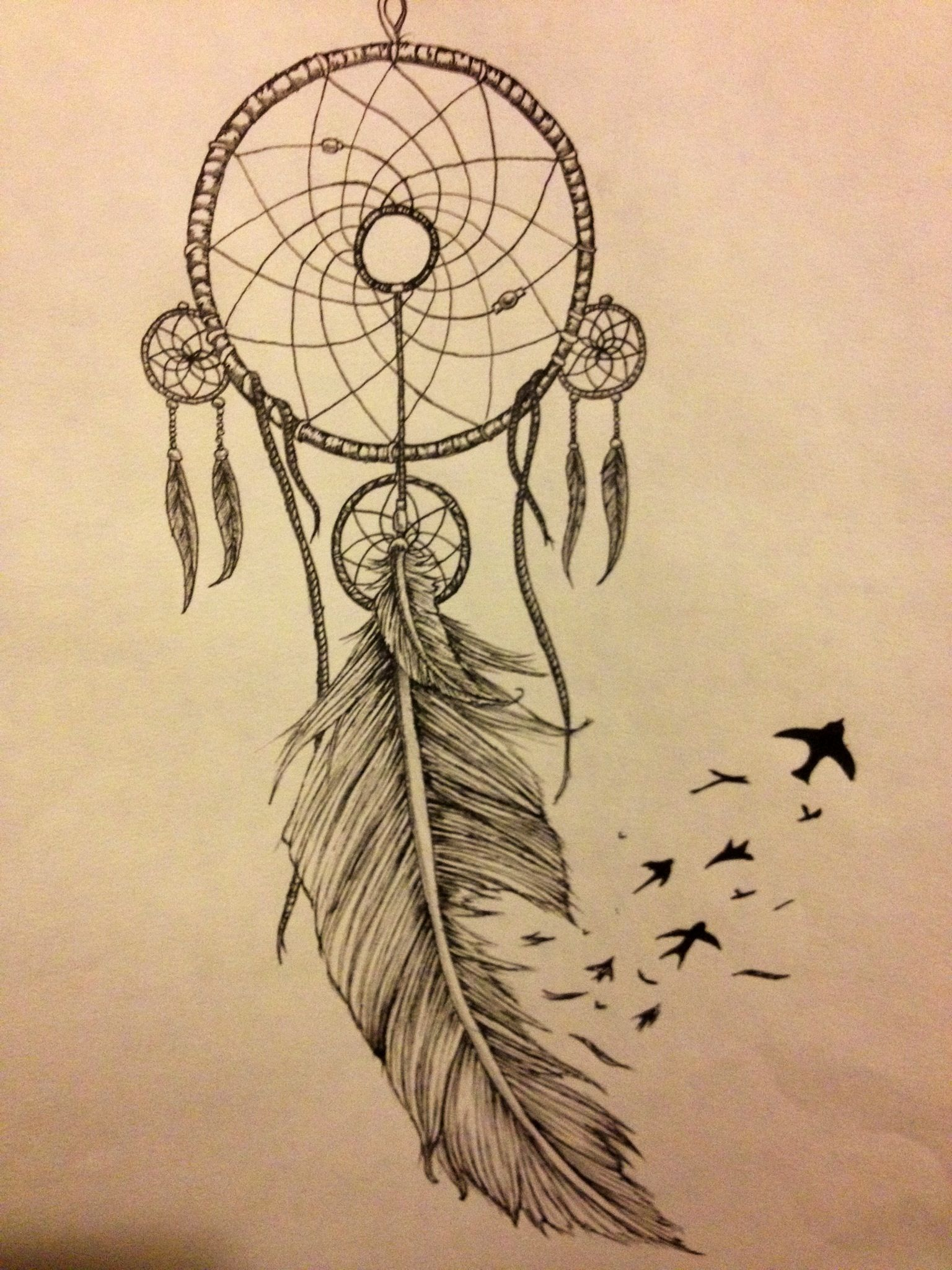 da7a1477f My dream catcher tattoo idea | Tattoos! | Dream catcher tattoo ...
