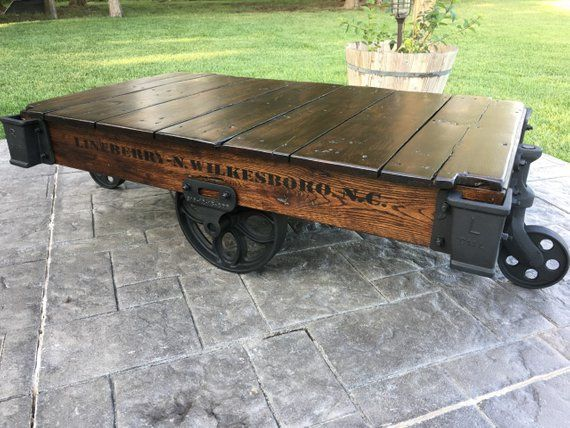 Miraculous Linebery Factory Cart Railroad Cart Coffee Table In 2019 Inzonedesignstudio Interior Chair Design Inzonedesignstudiocom