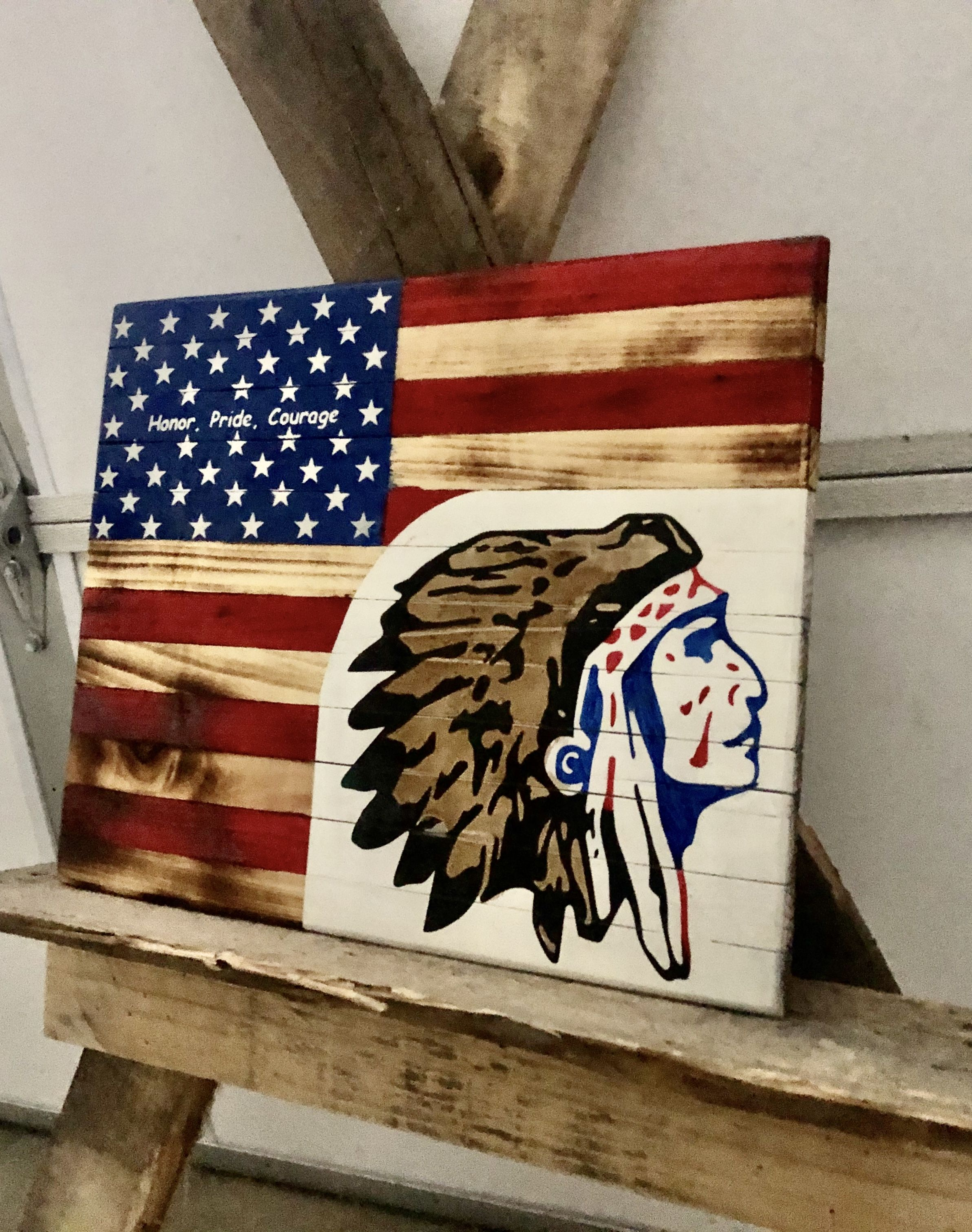 Wooden American Flag Wall Hanging In 2020 Wooden American Flag American Flag Wall Hanging American Flag Wall Decor