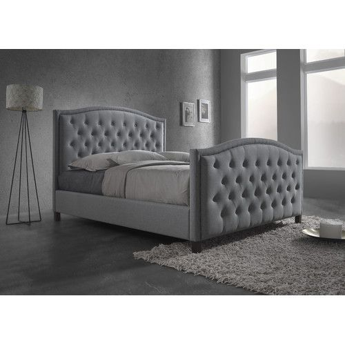Queen Size Fabric Bed Frame, Queen Bed With Headboard And Footboard