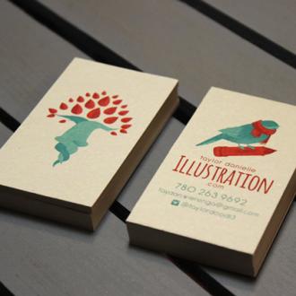 illustration business card