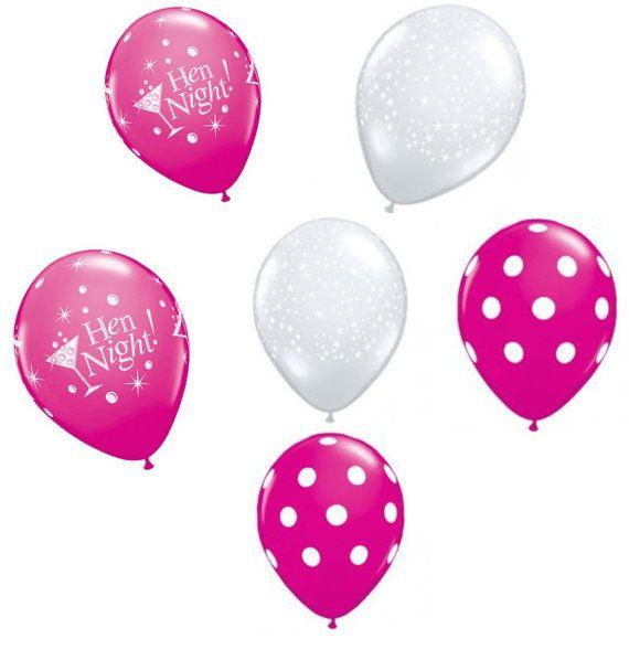 New Baby Girl Stars Pink 11 Inch Qualatex Latex Balloons x 6