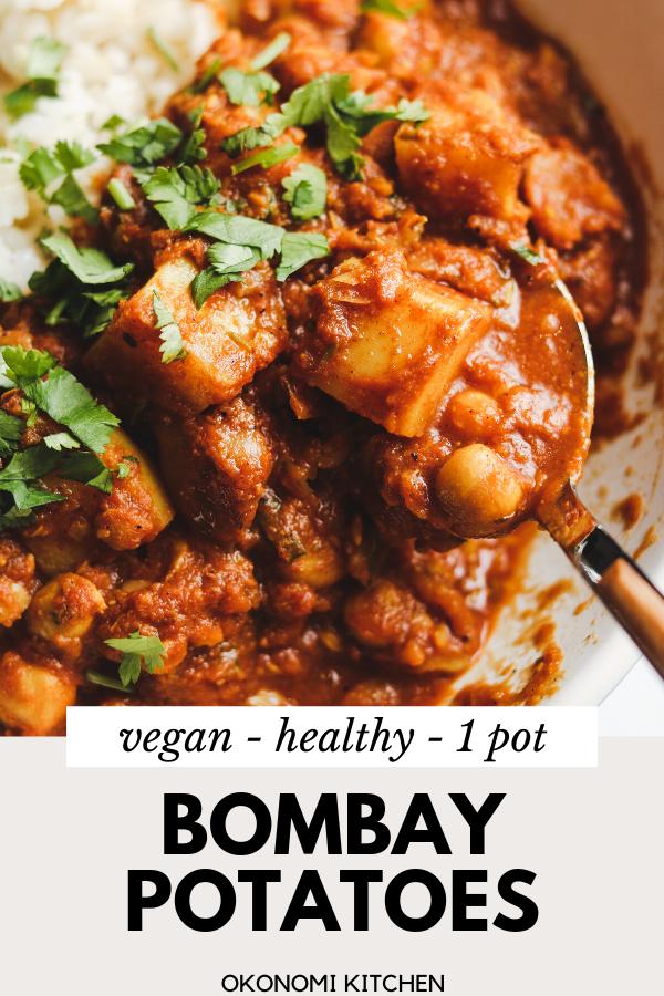 1 Pot Vegan Bombay Potatoes {30 minutes} - Okonomi Kitchen