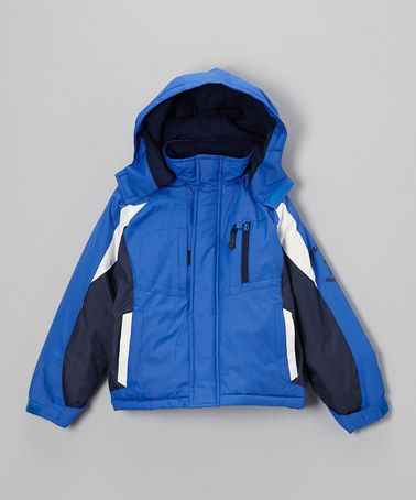 9db7f2e5d0f1 Love this Blue   White Color Block Puffer Jacket - Toddler   Boys on ...
