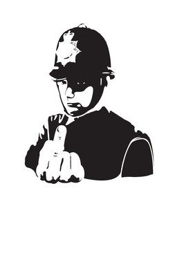 Banksy Police! Wall Decal