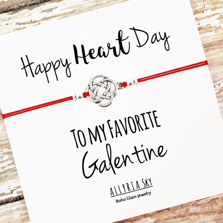 Friendship Bracelet With Galentine S Day Card Bff Best Friend Valentine Galentine S Gift Best Frien Happy Hearts Day Galentines Gifts Friends Valentines