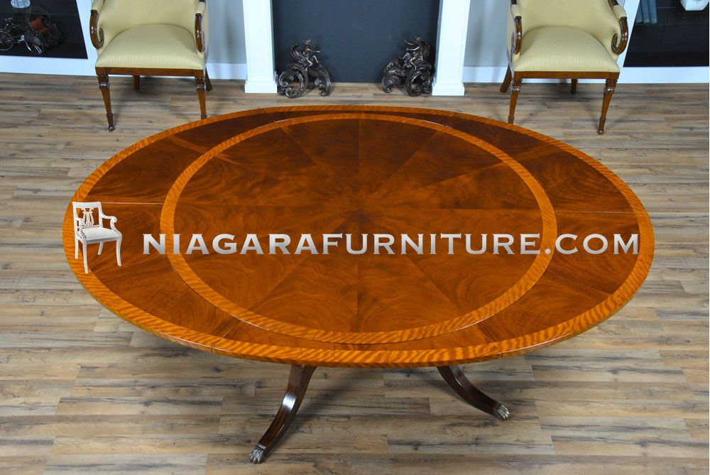 Round To Oval Perimeter Table Niagara Furniture Dining With Leaves 60 For 6