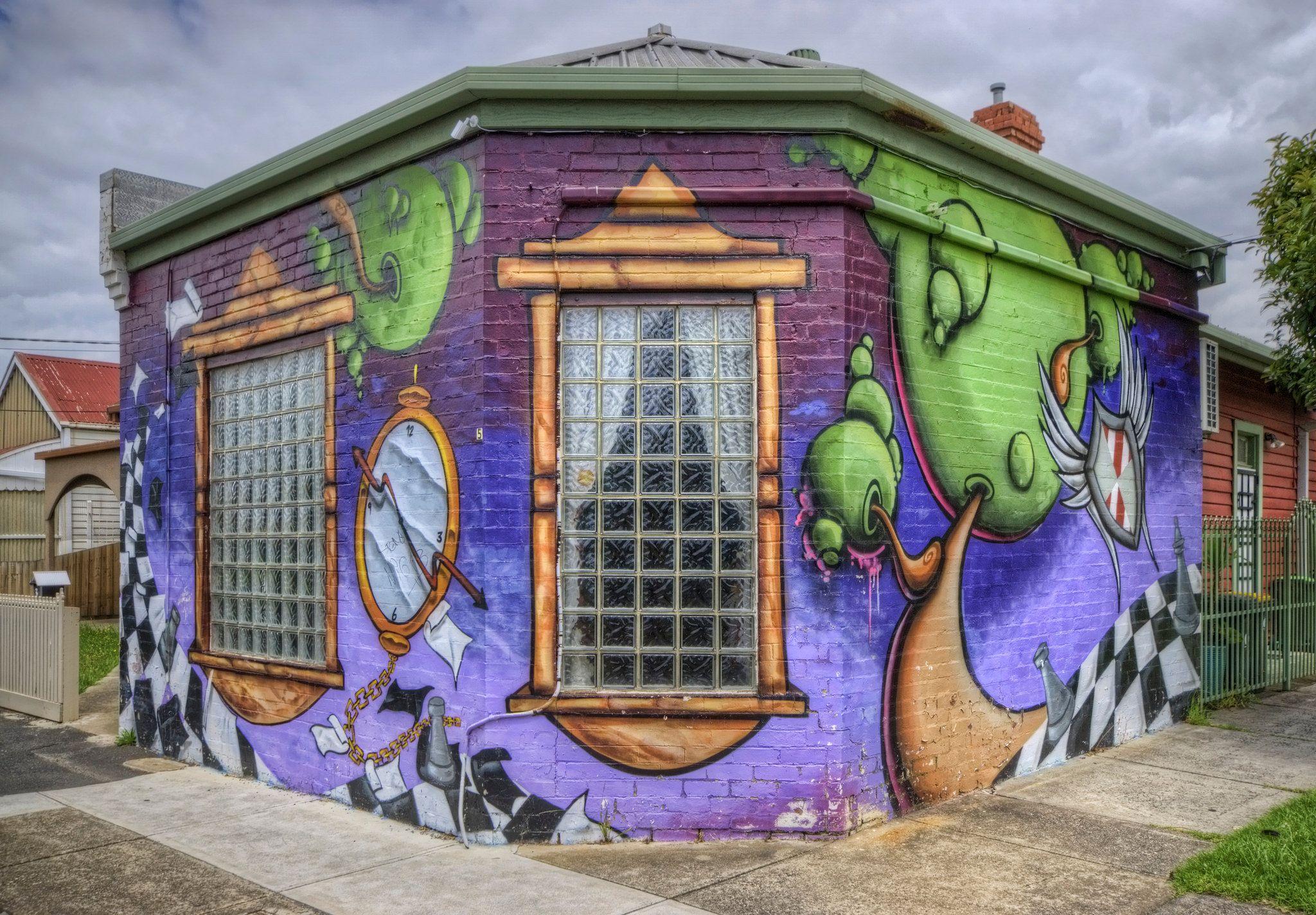 Suburban street art