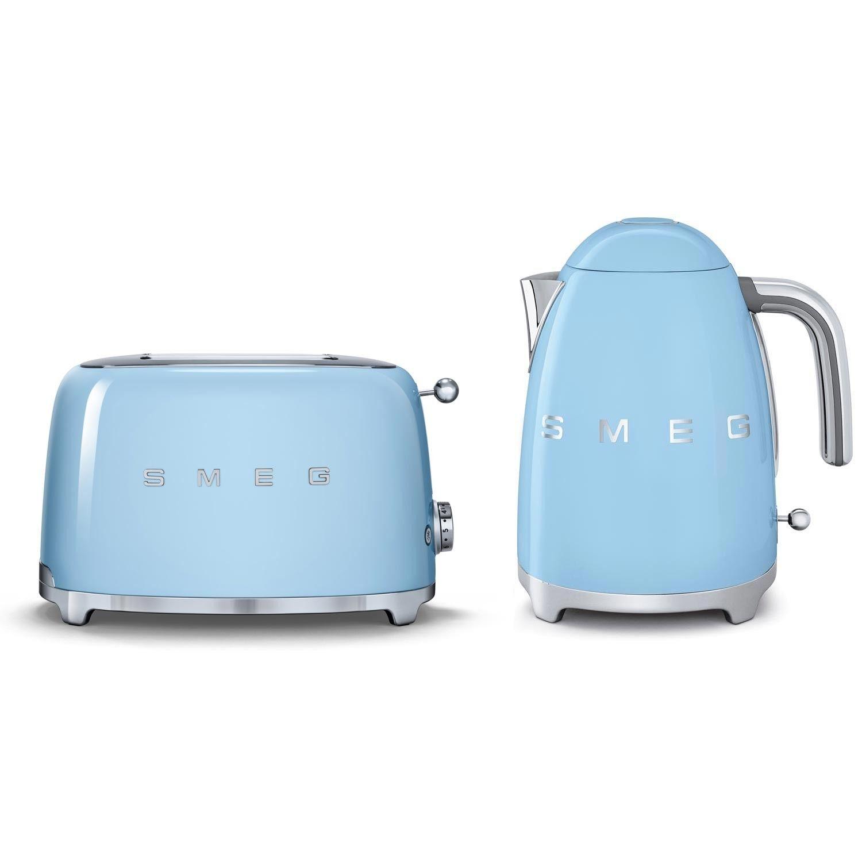 Blue Kitchen Decor Accessories Smeg Kettle Toaster Set Pastel Blue Zaidahs Kitchen Ideas