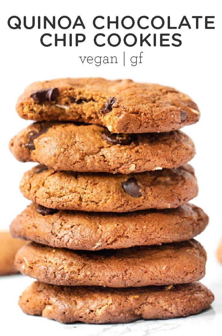 Gluten Free Quinoa Chocolate Chip Cookies Simply Quinoa Recipe Chocolate Chip Cookies Vegan Cookies Cookies Recipes Chocolate Chip