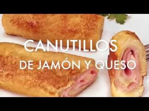 Receta de canutillos de jamon y queso