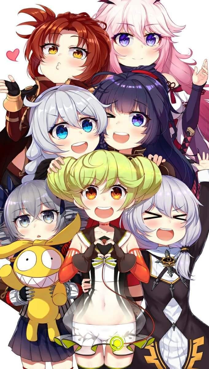Girls from Honkai Impact 3rd - one of my favorite games ...