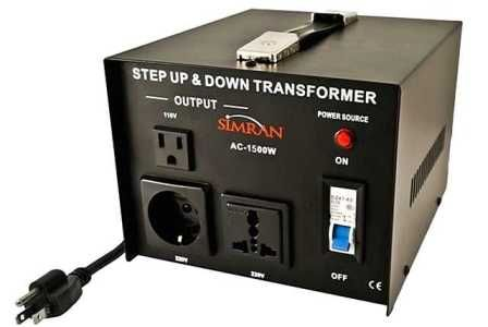 Simran Ac 1500 1500 Watts Step Up And Down Voltage Converter Transformer 110 220 Volts Transformers Voltage Converter Power Converters