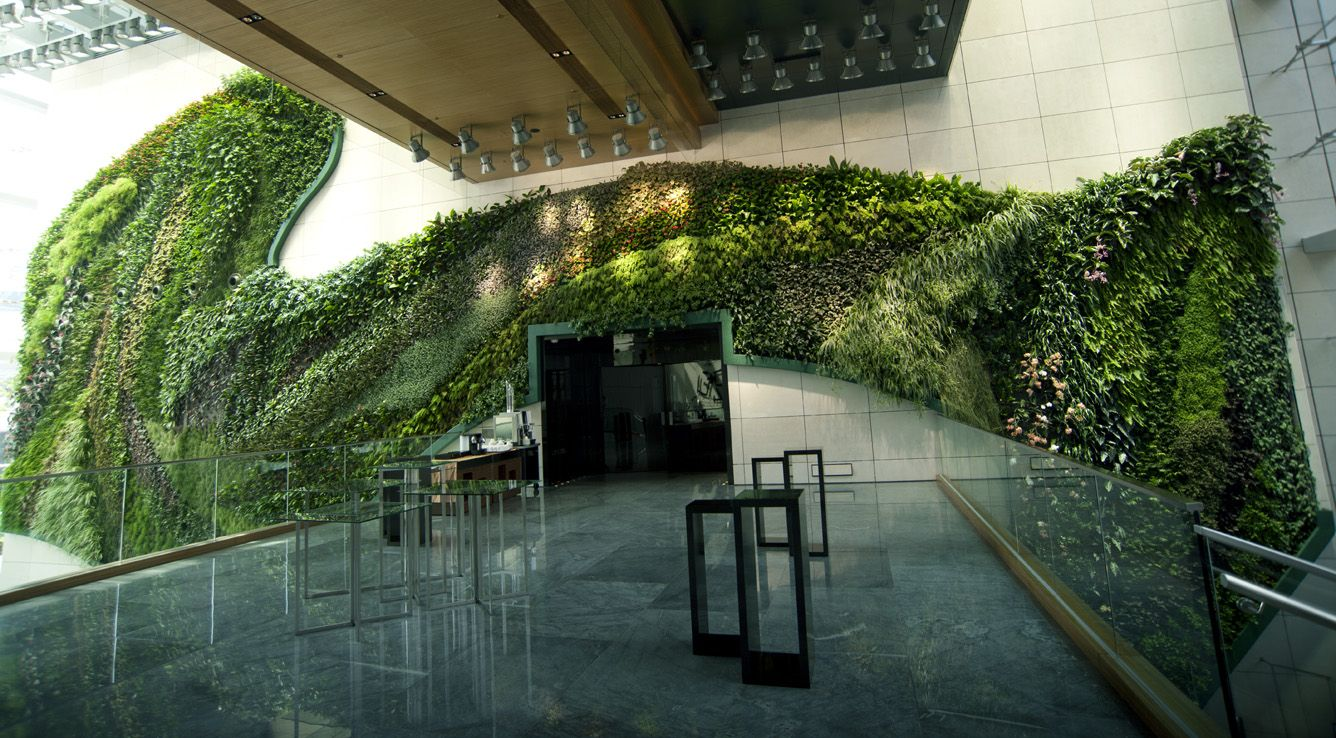 GNW Fake Plant Walls Vertical Green Wall System With Anti Uv Outdoor Use