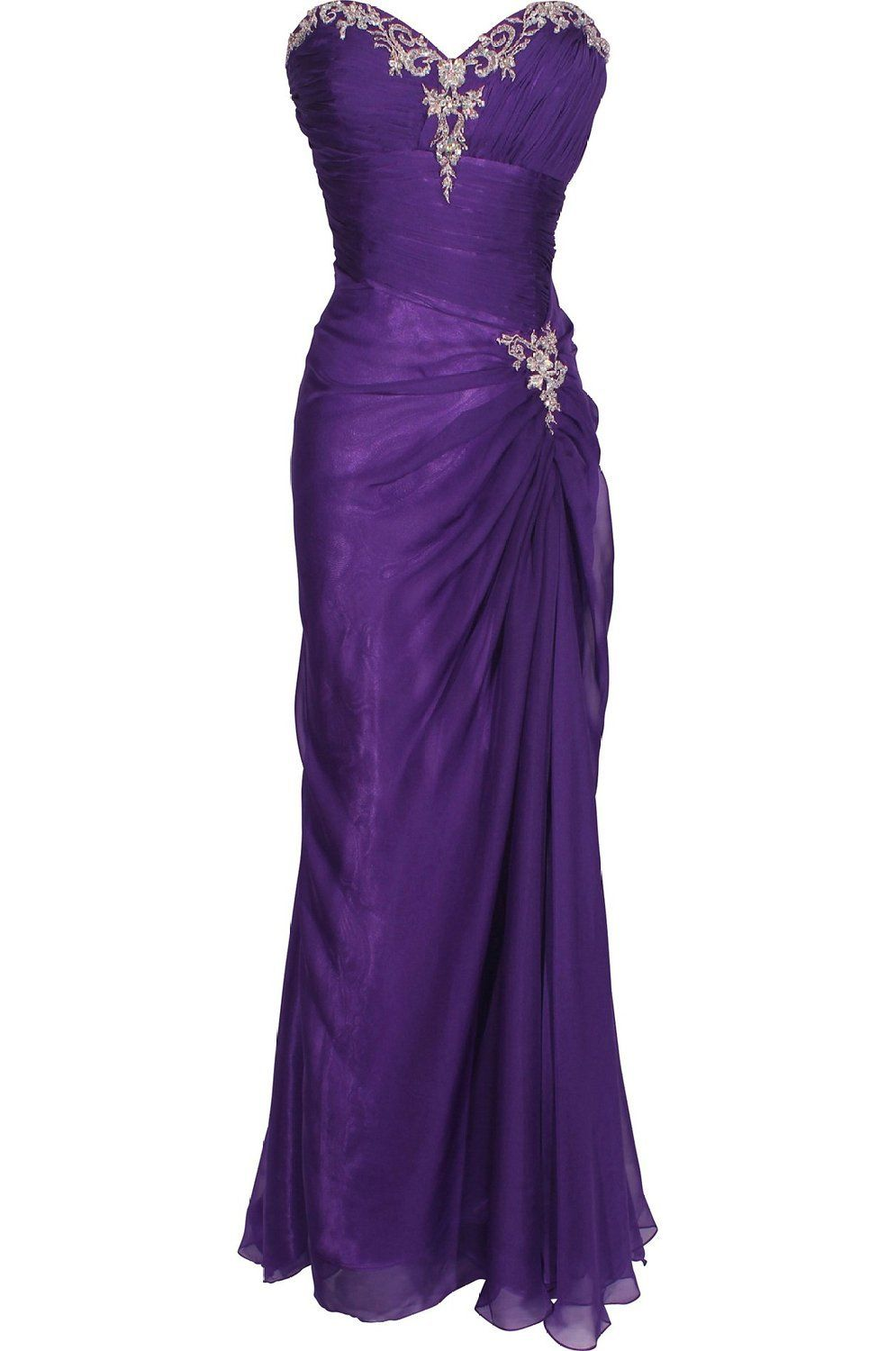 Mic Dresses Women's Strapless Long Evening Gown Ball Dresses at Amazon Women's Clothing store: