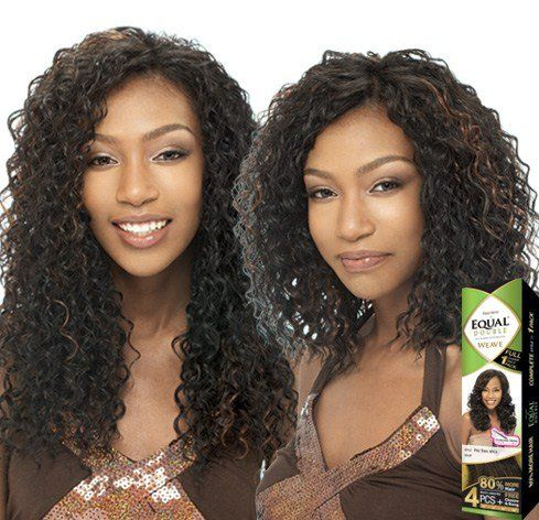 Beach Curl 4pcs Shake N Go Freetress Equal Synthetic Hair Double Weave Extensions 1 Weave Hairstyles Curly Hair Extensions Long Hair Styles
