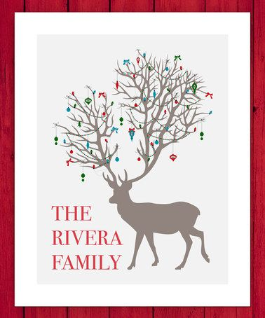 This Ornamental Reindeer Personalized Wall Art by Little Elf Print Co is perfect! #zulilyfinds
