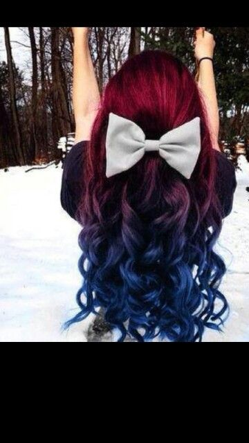 Red And Blue Hair Thick Hair Styles Hair Styles Cool Hair Color