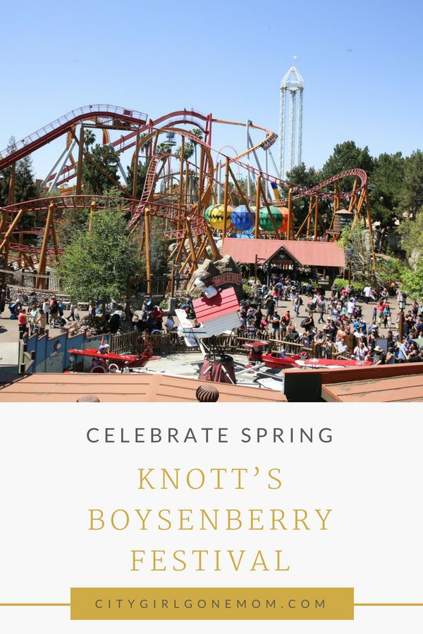 The Knott's Boysenberry Festival is in full swing with a festive line up of entertainment and over 70 one-of-a-kind boysenberry inspired dishes. The Boysenberry Festival is an amazing experience and a great way to start the spring season with the family. Check out the post for a peak at all the fun! #ad #citygirlgonemom #knottsberryfarm #california #socal #springtime #springtimefun #funwithfamily #kidfriendlyactivities #boysenberryfestival #everythingberry