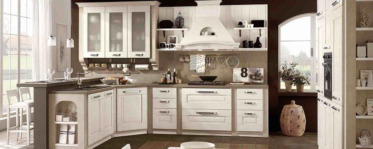 cucina-bianca-classica-dettagli-legno | INTERIOR DESIGN | Pinterest ...