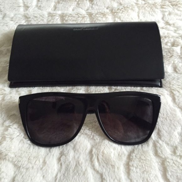 f9f625afa31 YSL SL1 Sunglasses - Black 100% Authentic, lightly used YSL SL1 sunglasses  in Black/Black. As seen on Kim Kardashian. There is minimal wear on these  ...