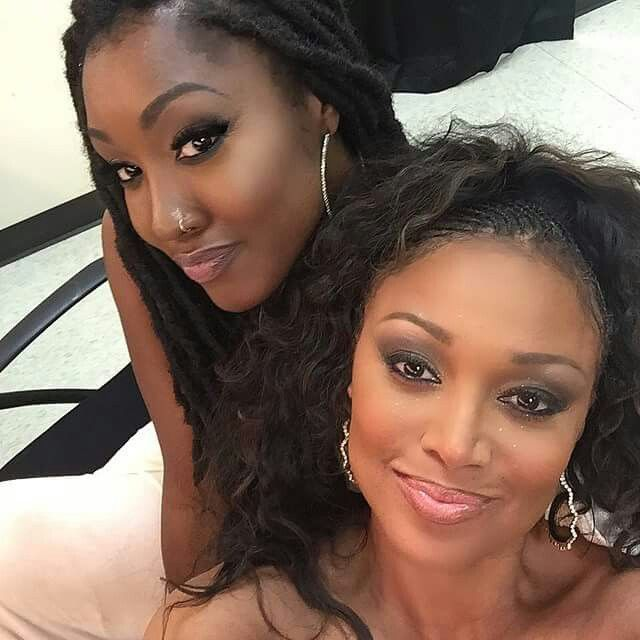 Chante Moore with her daughter Sophia Hardison